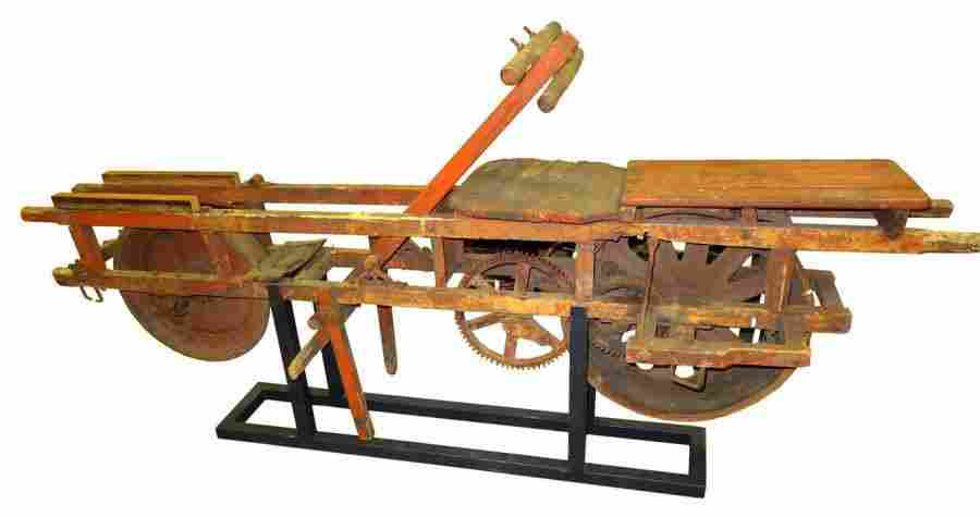 213: Rare Railroad Bicycle; Circa 1900. Museum Mounted.
