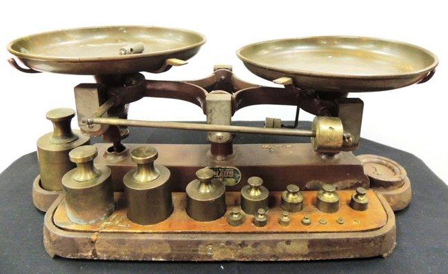 2: Newark Scale Works OHAUS balance scale; bronze