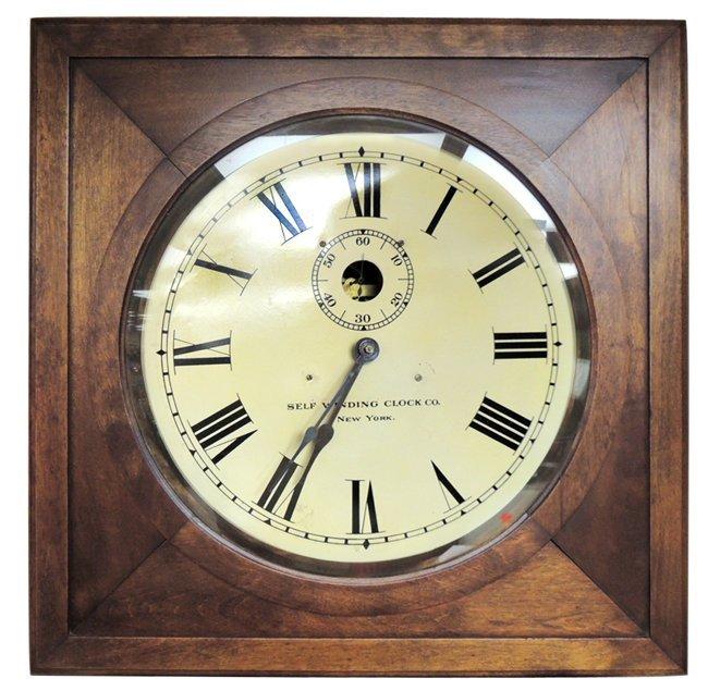 7: Self-winding Clock Co., NY; wall clock