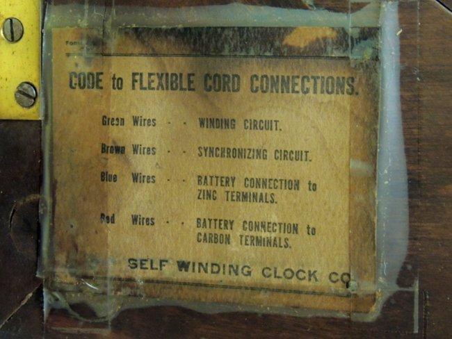 7: Self-winding Clock Co., NY; wall clock - 4