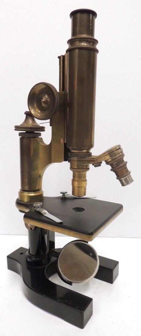 17: Spencer Lens Co. brass microscope