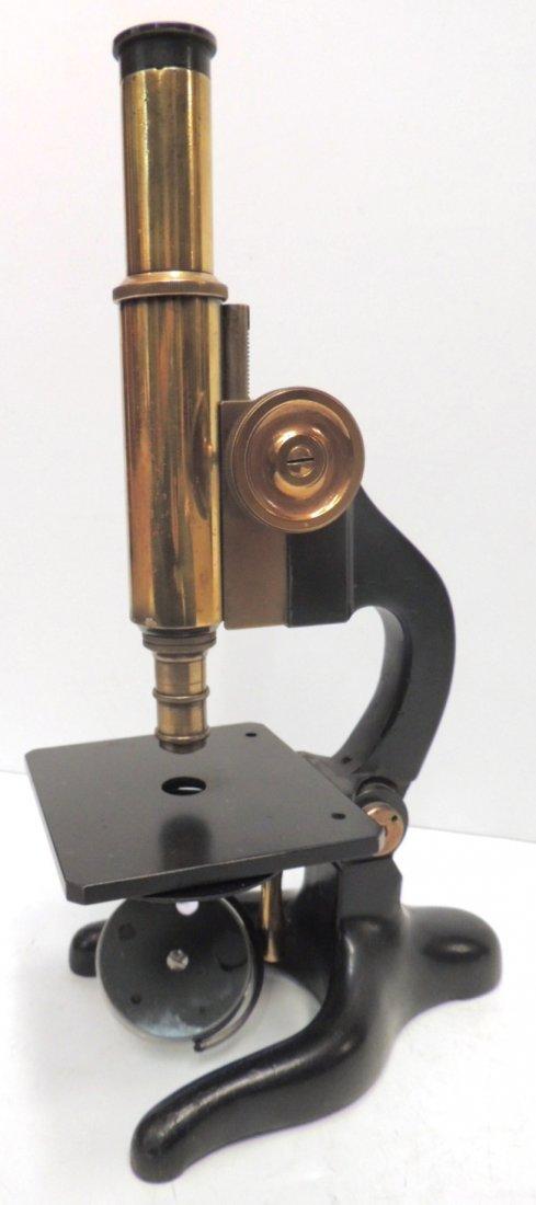 18: Carl Zeiss Jena brass microscope