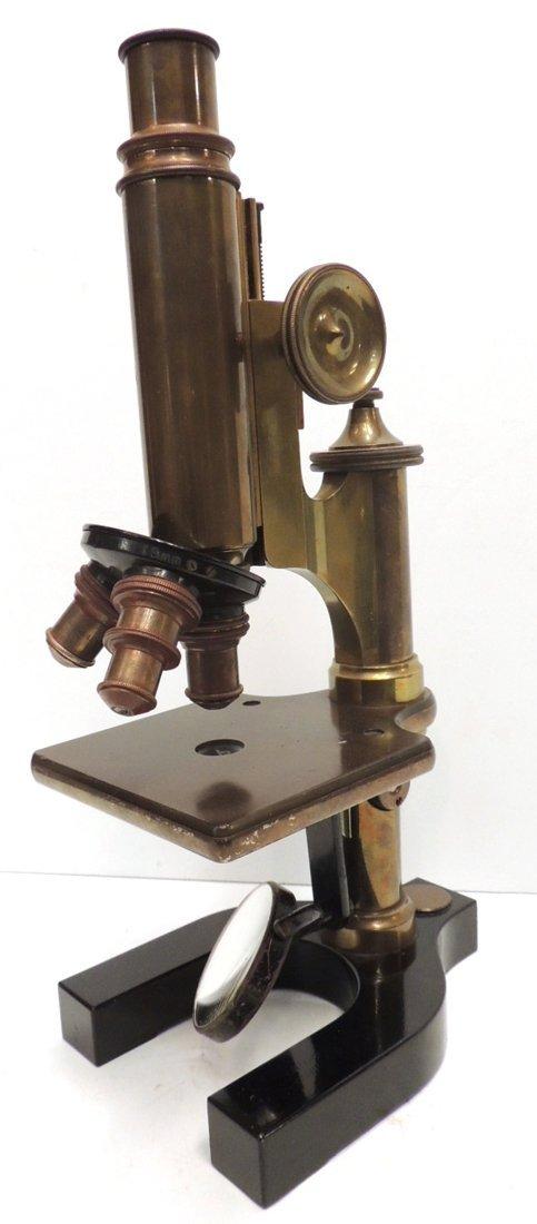 20: Bausch & Lomb brass microscope patent 1867 #65138