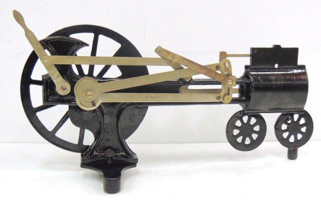 21: Iron steam engine model cutaway, circa 1920