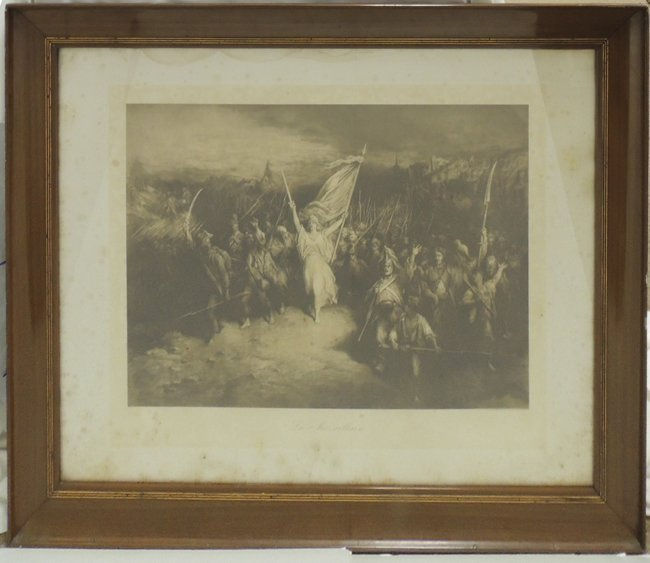 "Steel engraving ""La Marseillaise"" 1870 by G. Dore"