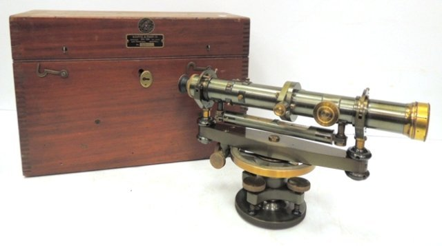 Keuffel & Esser Co/ NY leveling instrument in case