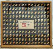 Framed collectors Olympic CocaCola pin set
