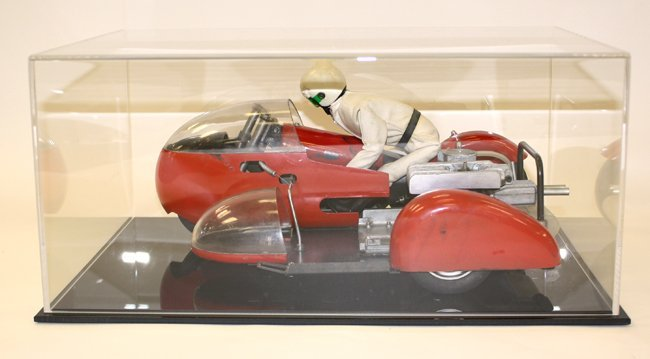 Tether gas powered motorcycle racer in custom acrylic