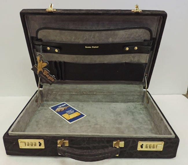 Black elephant hide briefcase