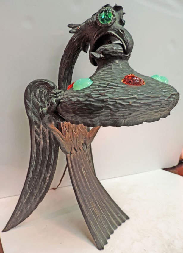 Bronze Austrian eagle lamp