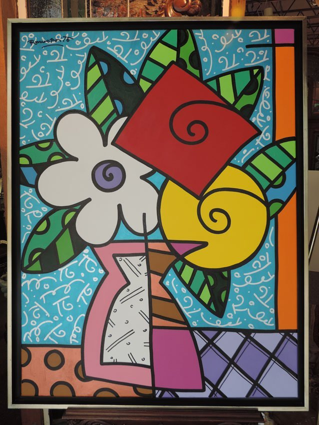 """""""Flowers for Eunice,"""" signed Romero Britto,"""