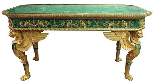 Malachite Table