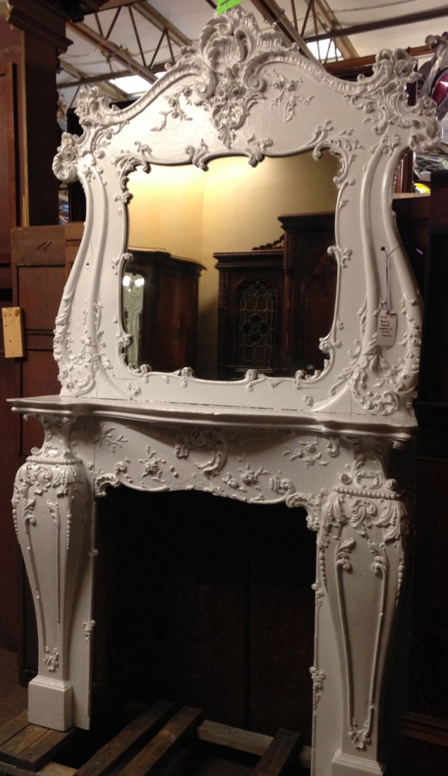 American French style fireplace