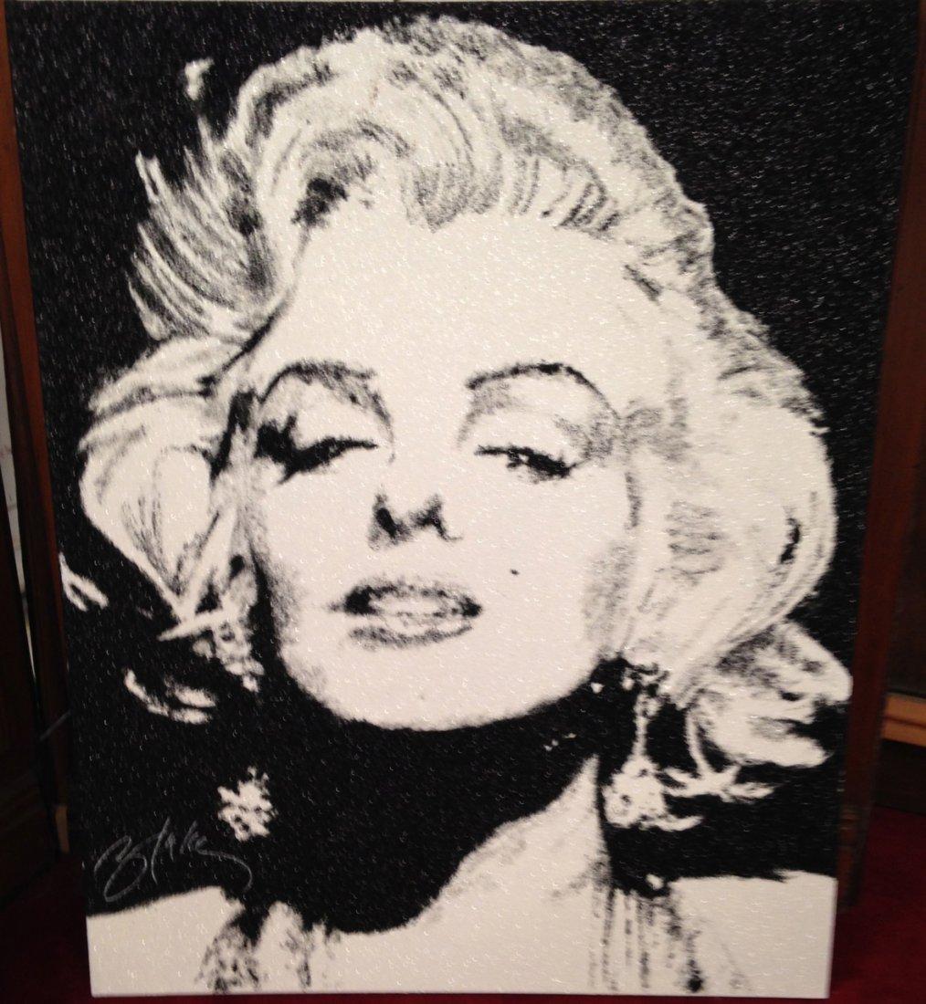 Original Marilyn Monroe crystal painting