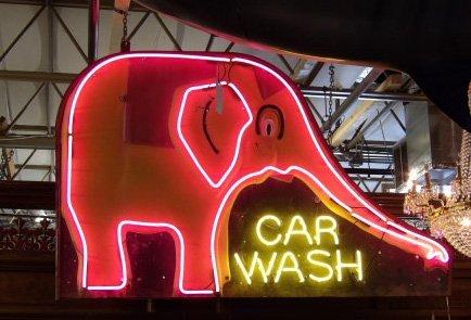 Elephant car wash neon
