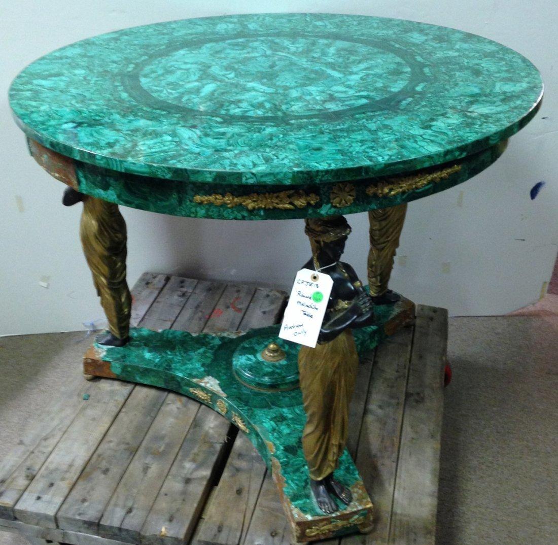 Round Malachite table