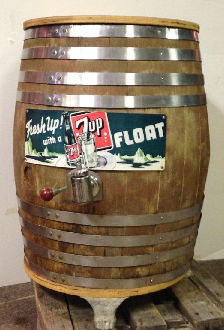 7-UP syrup barrel