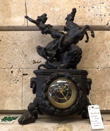 Black Forest Clock depicting a Valkyrie