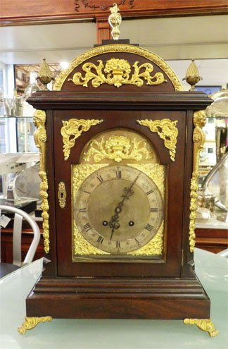 Bracket Clock with finials and ormolu