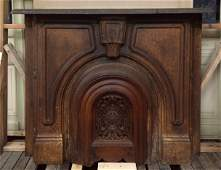 Late 1800's American Cast Iron Fireplace with Insert
