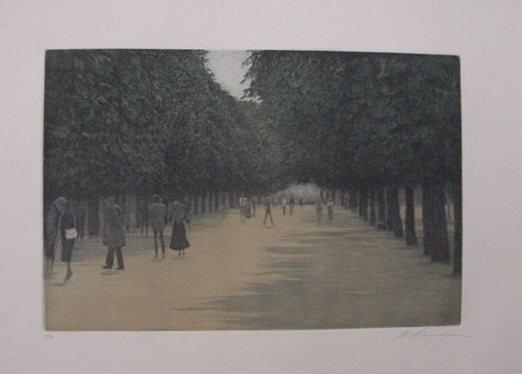 """4: Harold Altman """"Luxembourg Paris Tuilleries"""""""