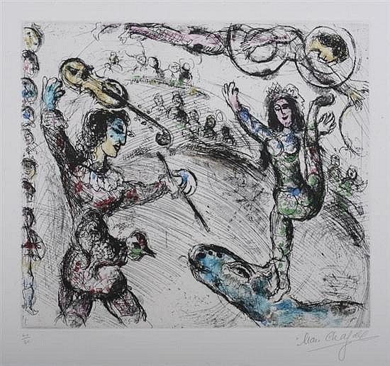 "121: Marc Chagall ""Acrobate et Violiniste"""