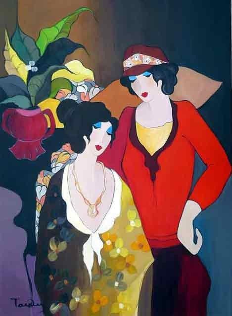 5: Yitzak Tarkay Oil Painting on canvas