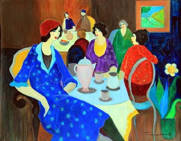 6: Yitzak Tarkay Oil Painting on canvas