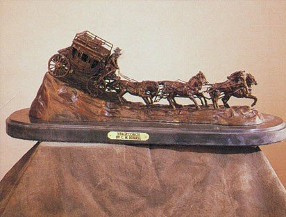 """22: Charles Marion Russell """"Stagecoach"""""""