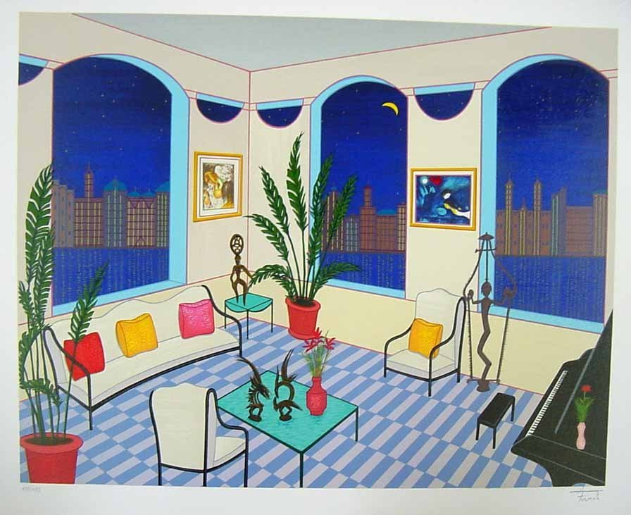 "184: Fanch Ledan ""Interior with Primitive Art"""