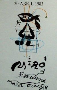 "11: Joan Miro ""Vintage Poster"""