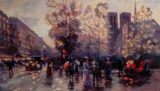 """19: Valery Gromov """"Landscape Notre Dame"""""""