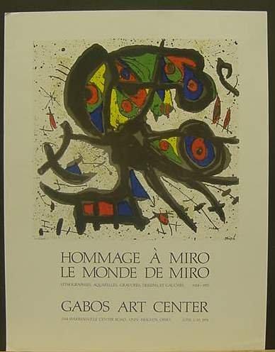 1: Joan Miro Exhibition Poster
