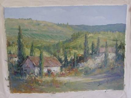 """10: Alex Perez """"Tuscany Field"""" O/C"""