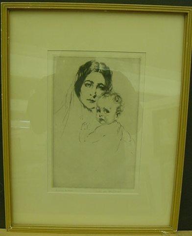 """19: Arthur William Heintzelmann """"Mother and Child"""""""