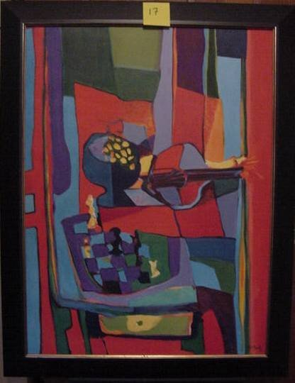 37: Marcel Mouly Original Painting on Canvas