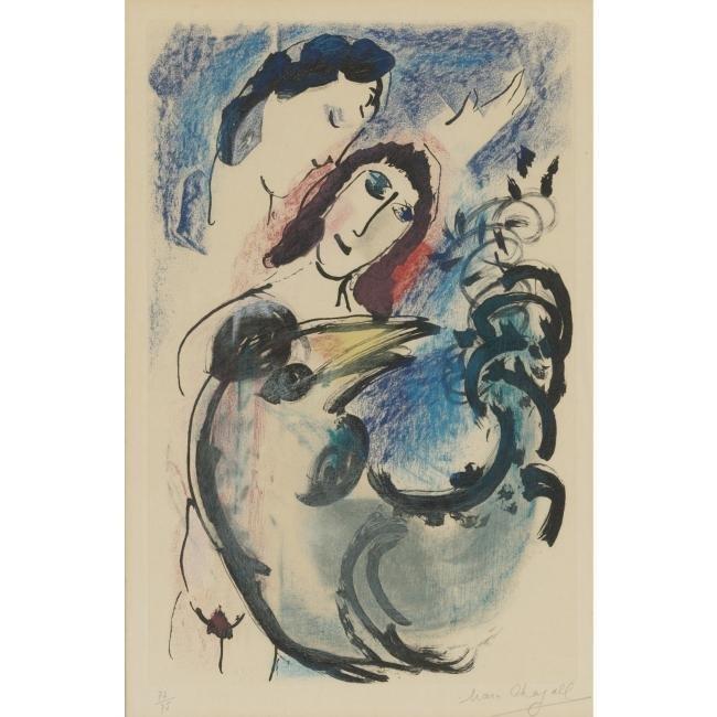 "49: Marc Chagall ""Coq Jaune"" etching"