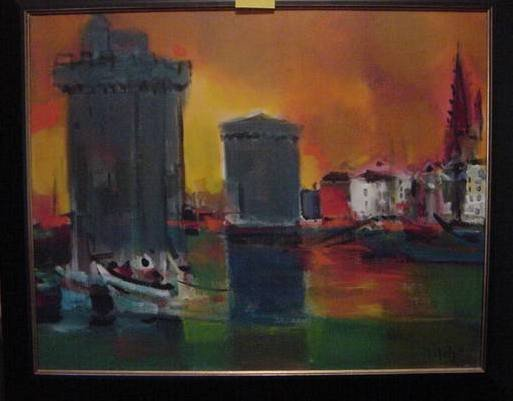 146: Marcel Mouly Original Painting on Canvas