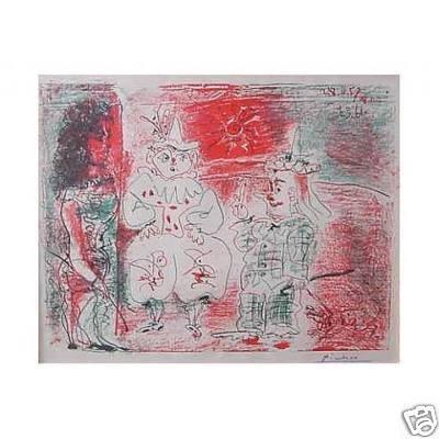 100E: PABLO PICASSO Ecuyere et Les Clowns lithograph