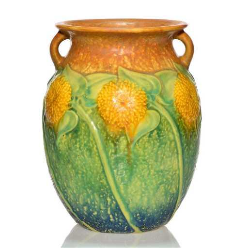 Roseville Sunflower Vase Shape 491 8 8 14