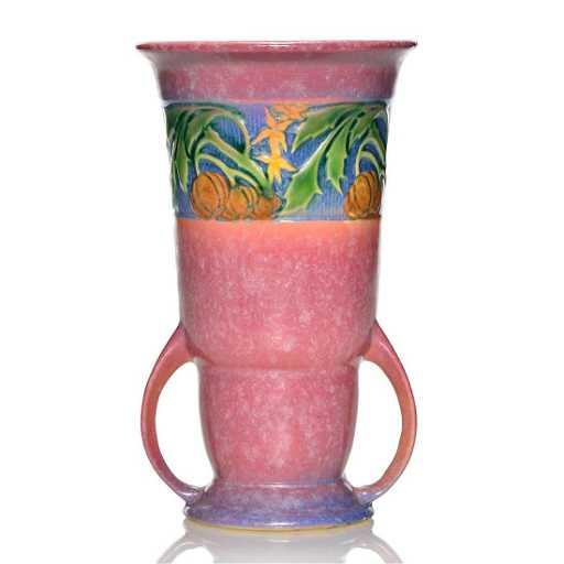 Roseville Baneda Vase Shape 593 8 Pink 8 14 Inches