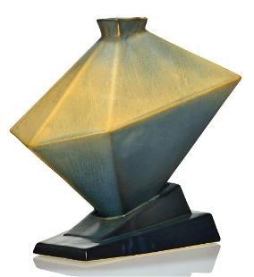 """Rare Roseville Futura Tank vase, shape 412-9"""", 9 5/8"""""""