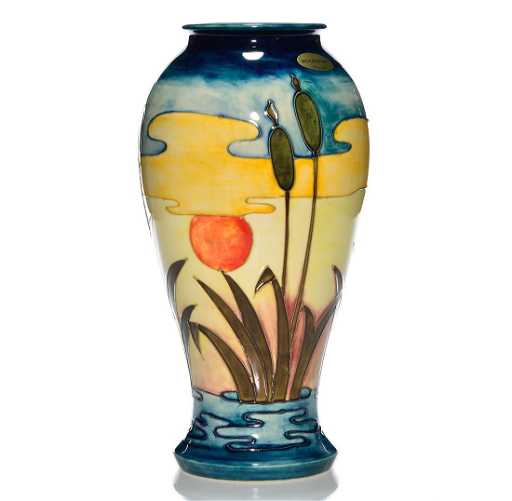 Moorcroft Contemporary Vase Cattails 12 14