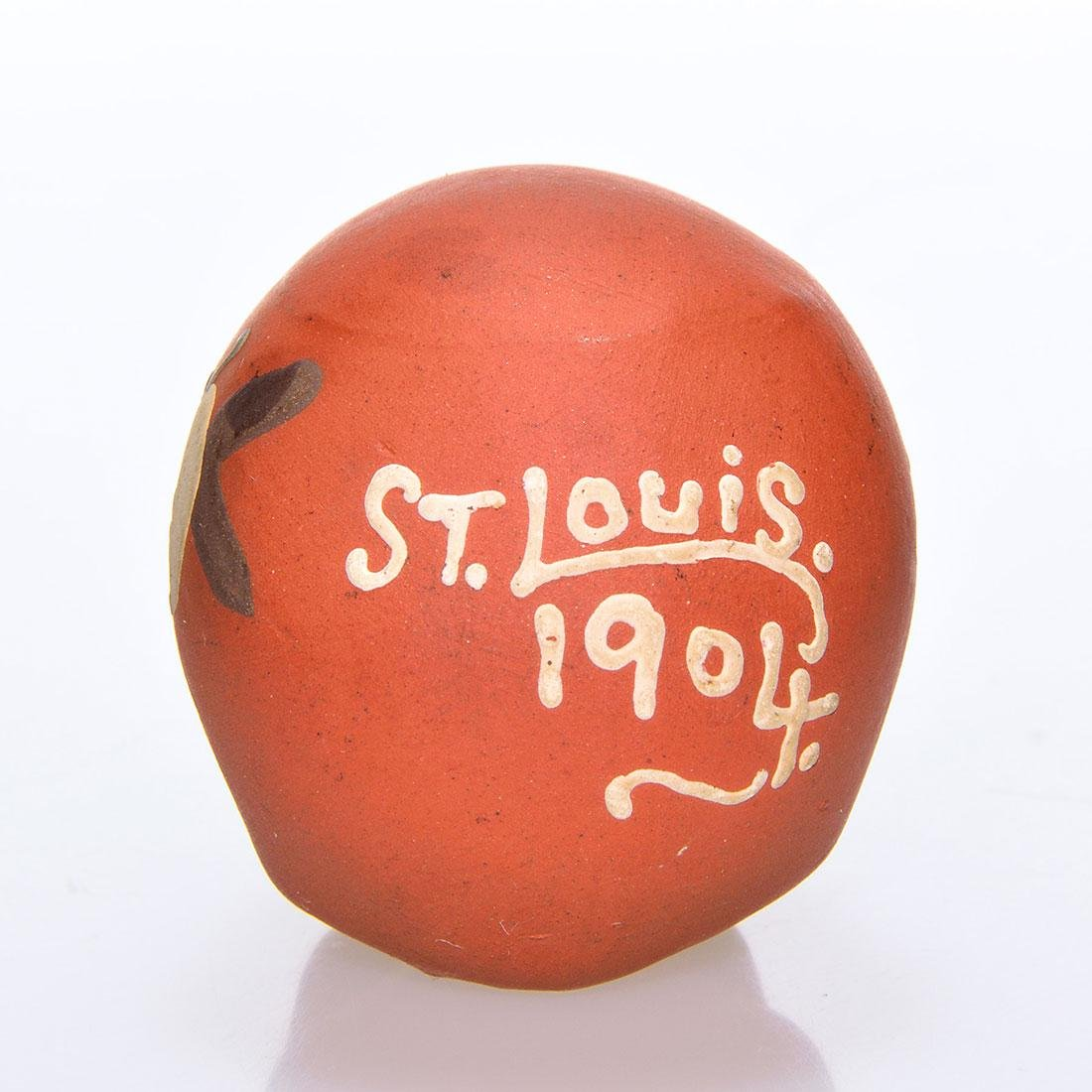 Weller St. Louis Worlds Fair decorated skull,1904,1 5/8 - 2