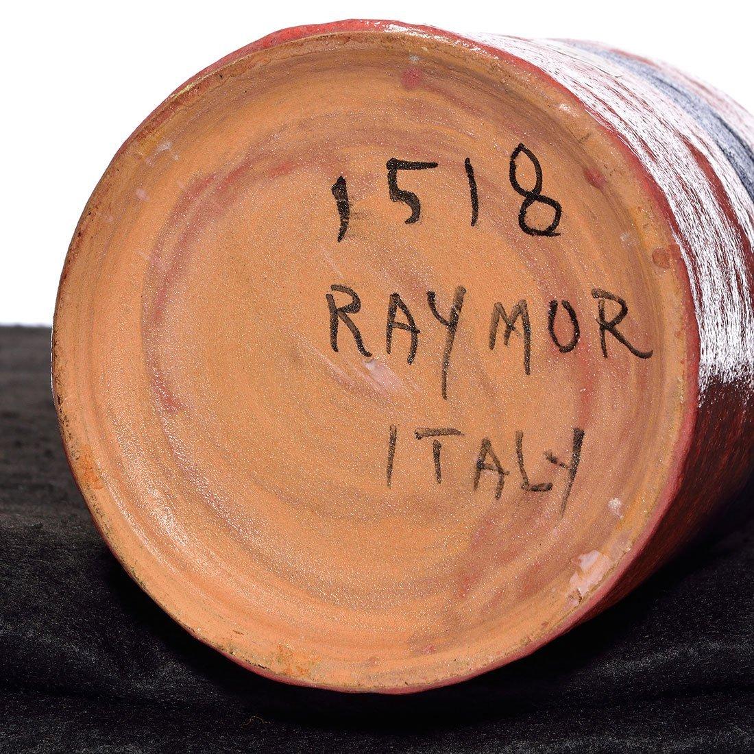 """Raymor, Italy vase, frothy glaze, 10 1/2"""" marked - 3"""