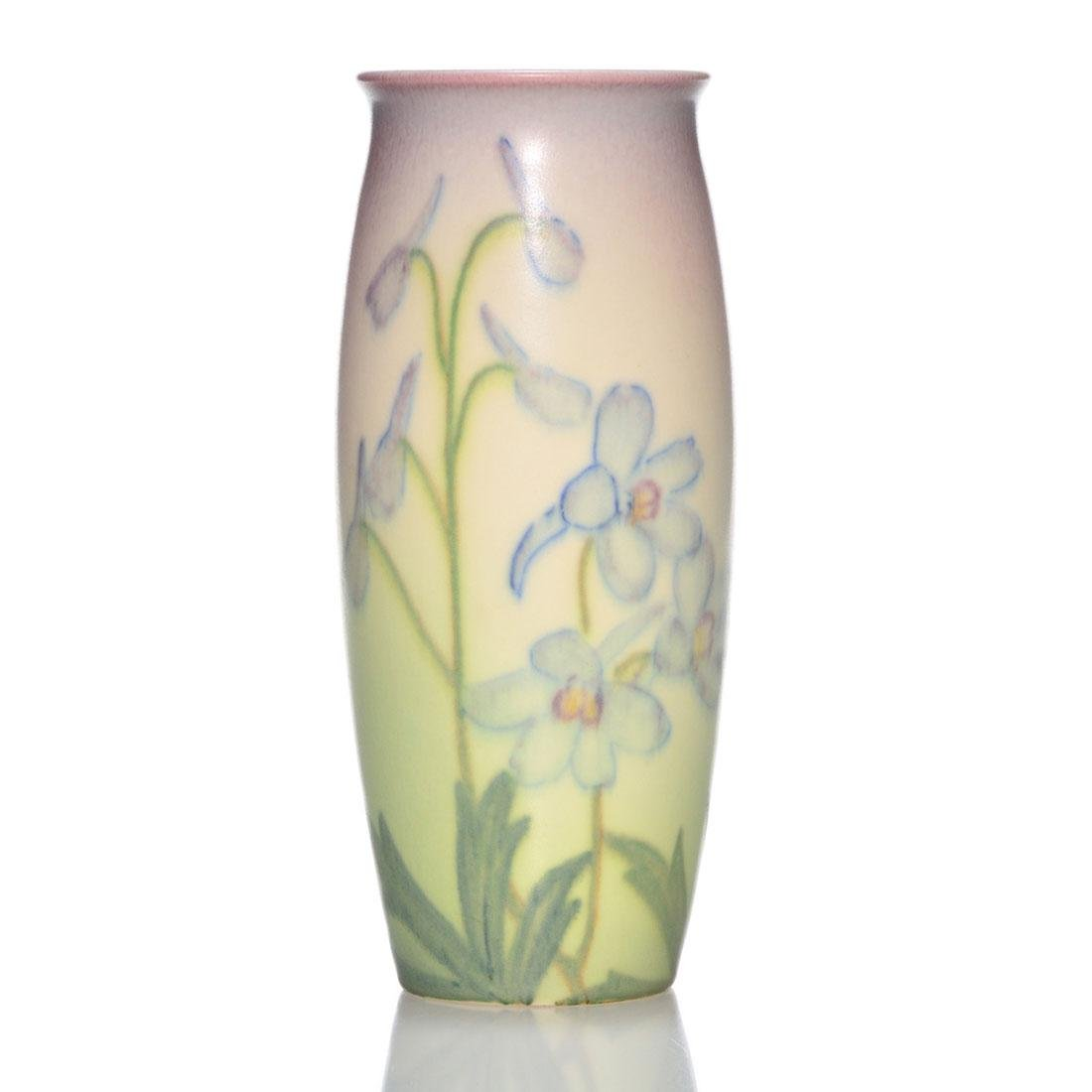 Symbol Of The Brand Yellow Rookwood 1933 Vase And To Have A Long Life. Art Pottery