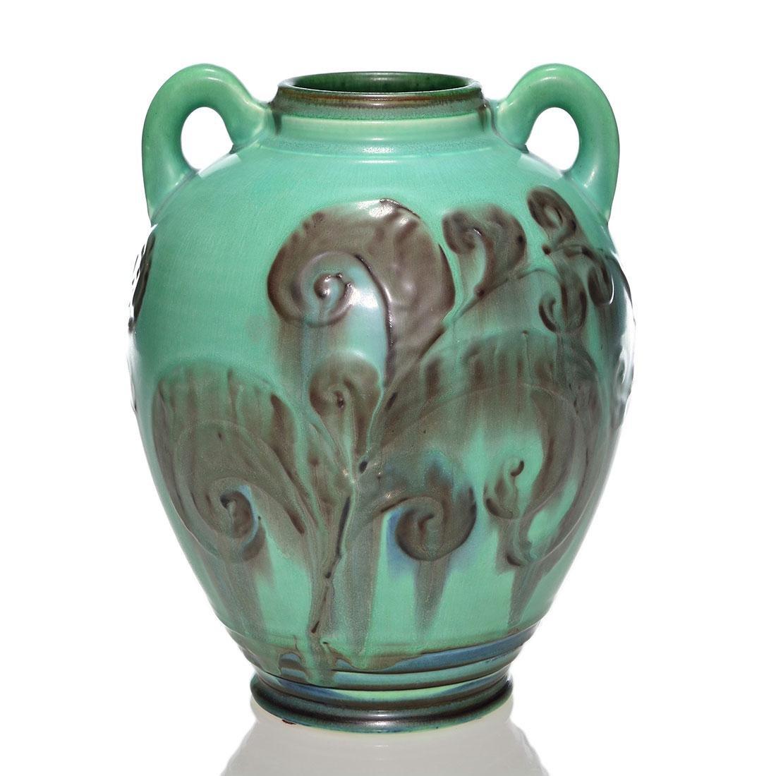 """Rookwood Art Deco vase, Barrett, 1930, 2640 E, 9 1/8"""""""