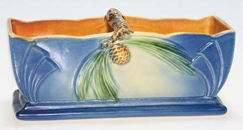 7: Roseville Pine Cone planter, blue, 468-5,