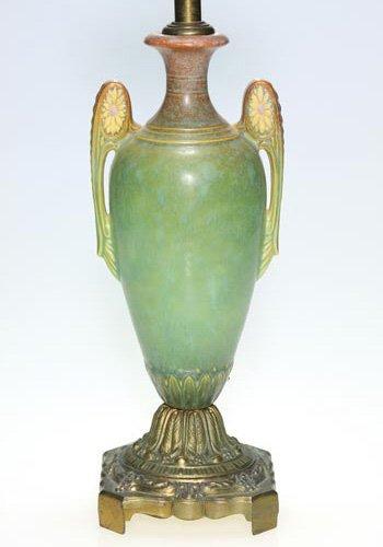 "13: Roseville factory lamp, 9 1/4"", mat"