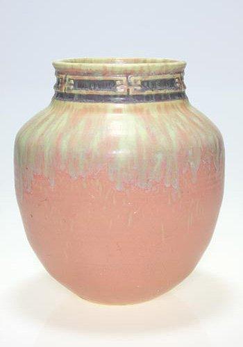 """17: Roseville Imperial II vase in pink, 481-8 1/2"""""""